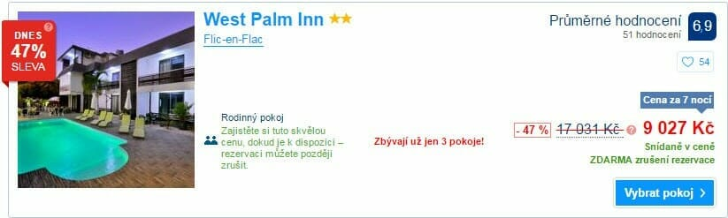 West Palm Inn, 9.027 Kč