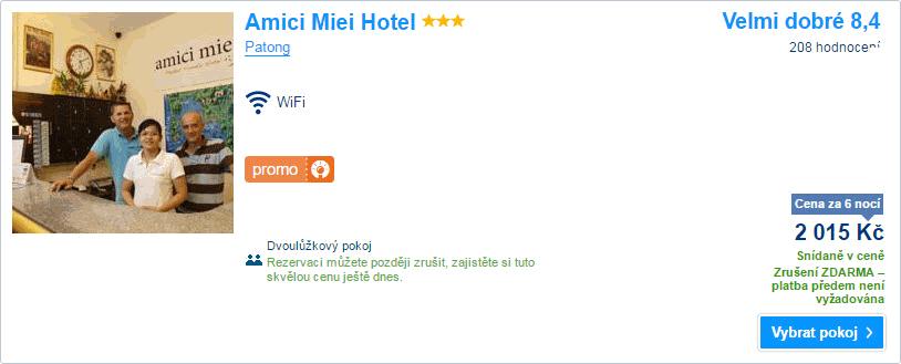 Amici Miei Hotel 2.015 Kč
