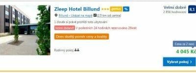 Ubytování Bilund, 16. až 18. listopadu (Ubytování, Booking)