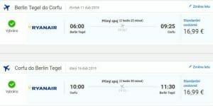 Berlín – Korfu za 868 Kč (Letenky, 11. až 13.duben 2018)